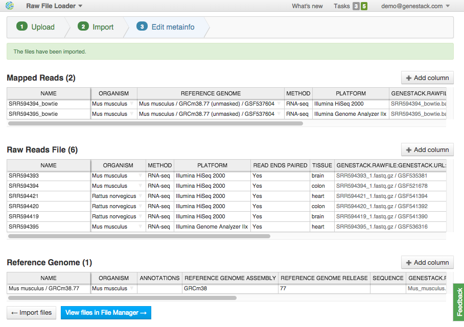 How to import and organize genomic data in the cloud