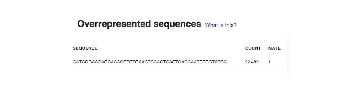 overrepresented sequences
