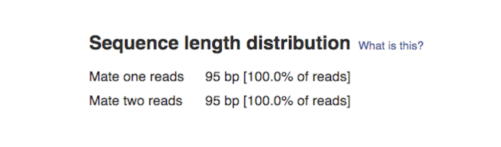 sequence length distribution