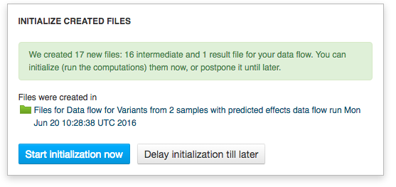 delay initialization till later
