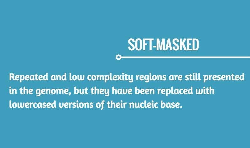soft masked genomes